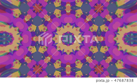 Abstract Colorful Painted Kaleidoscopic Graphic 47687838