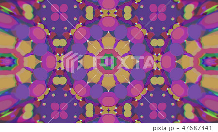 Abstract Colorful Painted Kaleidoscopic Graphic 47687841