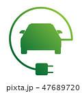 四輪車 自動車 バッテリーのイラスト 47689720