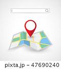 地図 アイコン マーカのイラスト 47690240