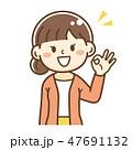 女性 人物 了解のイラスト 47691132