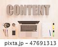 コンテンツ マーケティング マーケッティングのイラスト 47691313