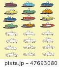 自動車 車 スポーツカーのイラスト 47693080
