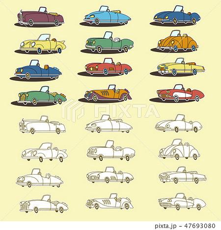 可愛い車のイラストのイラスト素材 47693080 Pixta