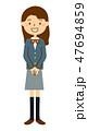 ブレザー 中学生 高校生のイラスト 47694859