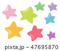 カラフル テクスチャー 模様のイラスト 47695870