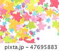 カラフル テクスチャー 模様のイラスト 47695883