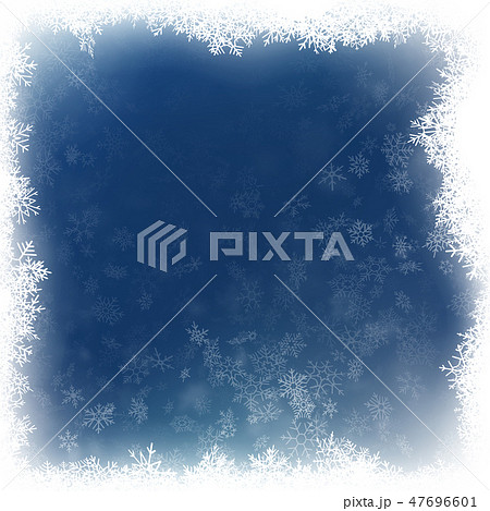 Falling snow on a blue background. Abstract white snowflake and sparkles background. EPS 10 47696601
