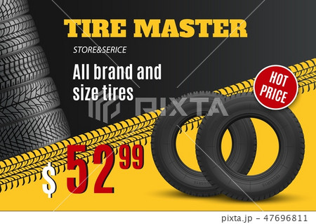 Car tire shop or auto wheel tyre store sale offer 47696811