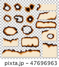 Holes and burnt edges of paper sheet pieces vector 47696963