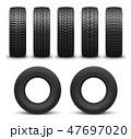 タイヤ ホイール 車輪のイラスト 47697020