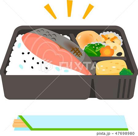 市販の鮭弁当 47698980