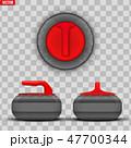 カーリング スポーツ ストーンのイラスト 47700344