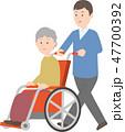 高齢者の介護イラスト 47700392