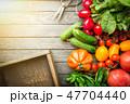 Assortment of organic vegetables 47704440