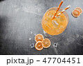 Glass of aperol soda cocktail 47704451