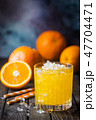 Glass of fresh orange juice 47704471