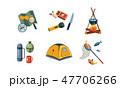 セット 組み合わせ キャンプのイラスト 47706266