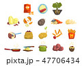 セット 組み合わせ 料理のイラスト 47706434