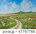 花 ドローイング 絵のイラスト 47707766