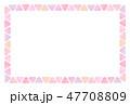 三角のフレーム 水彩 暖色 47708809
