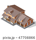 Cottage Isometric Vector 47708866