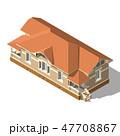 Cottage Isometric Vector 47708867