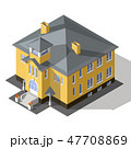 Cottage Isometric Vector 47708869
