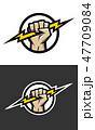電光 稲光 雷光のイラスト 47709084