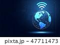 ワイファイ グローバル 連結のイラスト 47711473