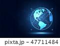 デジタル インターネット ネットワークのイラスト 47711484