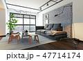 ソファ ソファー 長椅子のイラスト 47714174