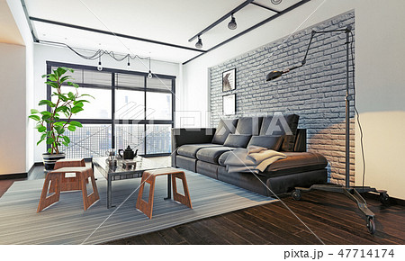 modern loft interior. 47714174