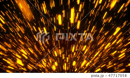 Rising bright embers, fire conceptual backdrop, 3d render computer generated background 47717058