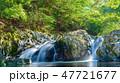 滑沢渓谷 川 滝の写真 47721677