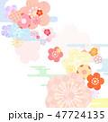 和柄 背景 春のイラスト 47724135