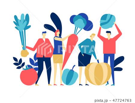 Organic food - flat design style colorful illustration 47724763