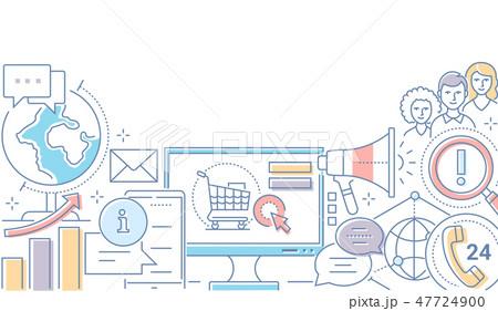 Digital marketing - modern line design style illustration 47724900