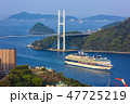 客船 入港 海の写真 47725219