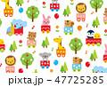 かわいい動物テクスチャ 47725285