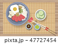 食 料理 食べ物のイラスト 47727454
