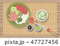 食 料理 食べ物のイラスト 47727456