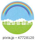 町並み 町 風景のイラスト 47728120