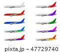 飛行機 旅客機 航空機のイラスト 47729740