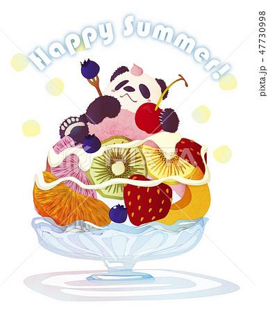 フルーツかき氷とパンダと夏 47730998