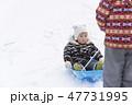 はじめての雪遊び 1歳児 47731995