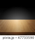 Wood table with black wall background 47733590