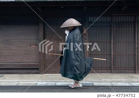 福井県小浜市曹洞宗発心寺托鉢僧を撮影したもの 47734752
