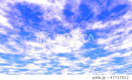 雲のある空の背景 バックグラウンド  47737012