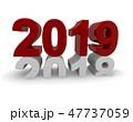 2019 新しい年 新年のイラスト 47737059